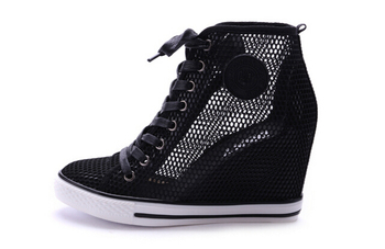ASH FLUORESCENT HIT COLOR SHOES WEDGE HEEL SHOES HEIGHT INCREASING FASHION LIKE ISABEL MARANT NET SURFACE HOLLOW