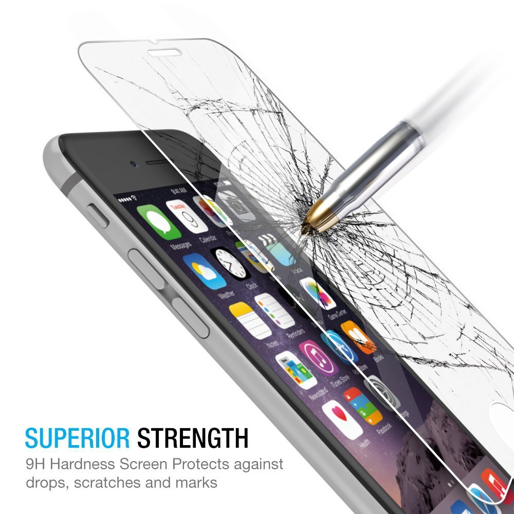 For iPhone 6 Plus Temper Glass Protector 9H Hardness 0.26mm Ultra Thin Shockproof Screen Protector for iPhone 6 Plus 5.5 Inch(China (Mainland))