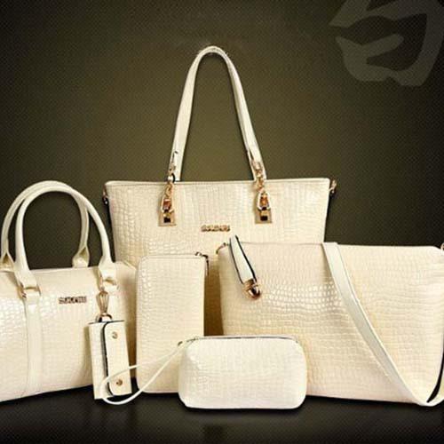 Hot Sale 3Pcs/set European And American Style Fashion Composite Bag Alligator Woman Handbag