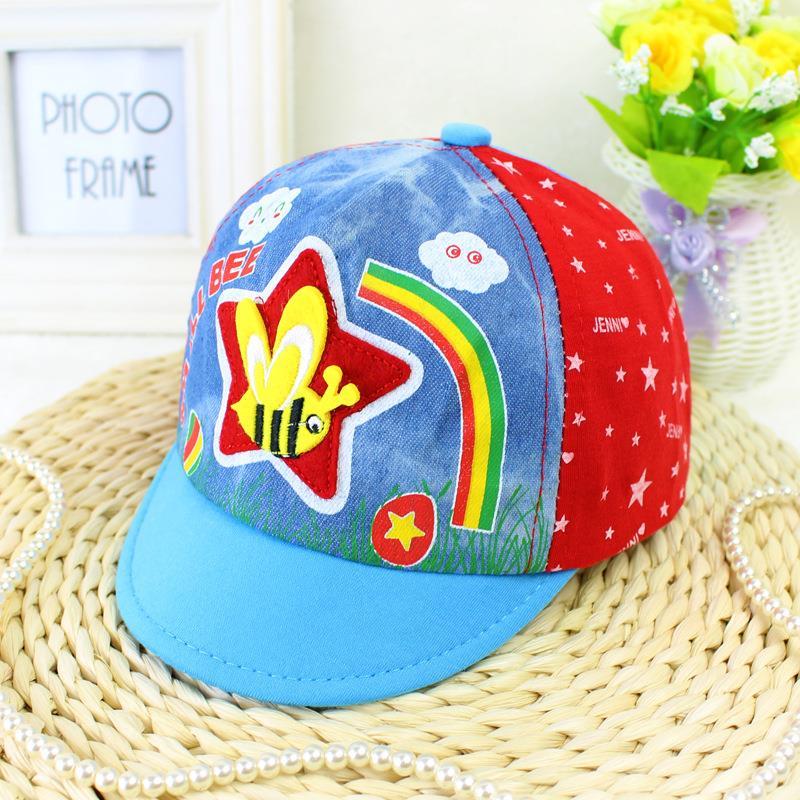 5 Colors 2016 Newborn Baby Baseball Cap 0-1years Infant Baby Unisex Cotton Sun Hats Toddler Washed Denim Hat LQJH020(China (Mainland))