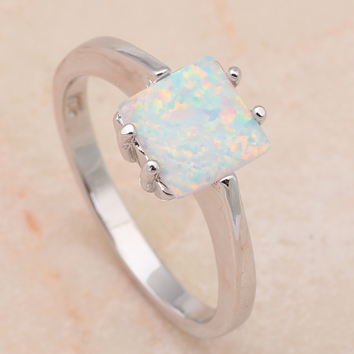 Royal Designer Wholesale & Retail Fire Opal 925 Silver Prom party fashion jewelry Rings USA size #6.5 #7.5 OR467(China (Mainland))