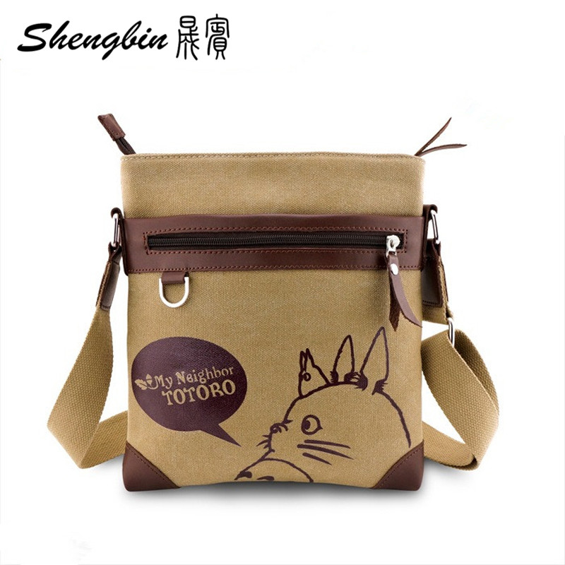 Anime My Neighbor Totoro Messenger Canvas Bag Shoulder Bag Sling Pack My Neighbor Totoro Cosplay Tonari No Totoro Free Shipping(China (Mainland))