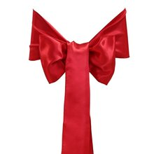 Satin Bowknot Sashes Chair Cover for Wedding Banquet