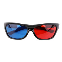 2016 Black Frame Universal 3D Plastic glasses/Oculos/Red Blue Cyan 3D glass Anaglyph 3D Movie Game DVD vision/cinema Wholesale(China (Mainland))