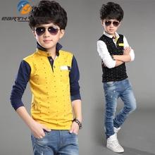 New 2016 Summer Baby Autumn Big Boy Dot T shirt Children s Clothing Baby Boy Fashion