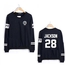 GOT7 2016 New Korean Sport Women Sweatshirts Slim Harajuku Plus Size Couple Clothes Letters Number Print Hoodie Casual Pullover(China (Mainland))