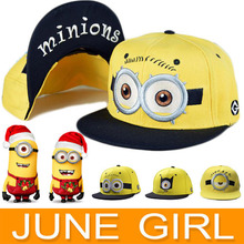 2015High Quality Baseball Cap Minions sports fishing sun hat summer style Casual hip hop newsboy caps for men women and children(China (Mainland))