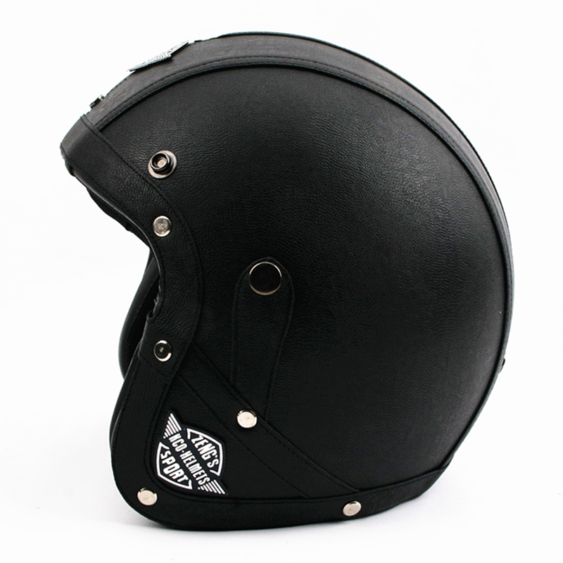 2016 New Vintage motorcycle helmet Retro scooter open face helmet cruisers Harley moto 3/4 casco capacetes DOT Approved(China (Mainland))