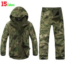 Tad V4.0 engrenage Camouflage Shark extérieure étanche randonnée veste costume hommes armée chasse militaire de sweat à capuche Softshell veste + pantalon(China (Mainland))