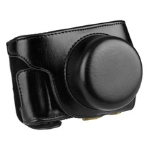 TARION Detachable PU Leather Camera Case Bag Cover for Panasonic Lumix GF7 With Strap Black Coffee Brown Free Shipping(China (Mainland))