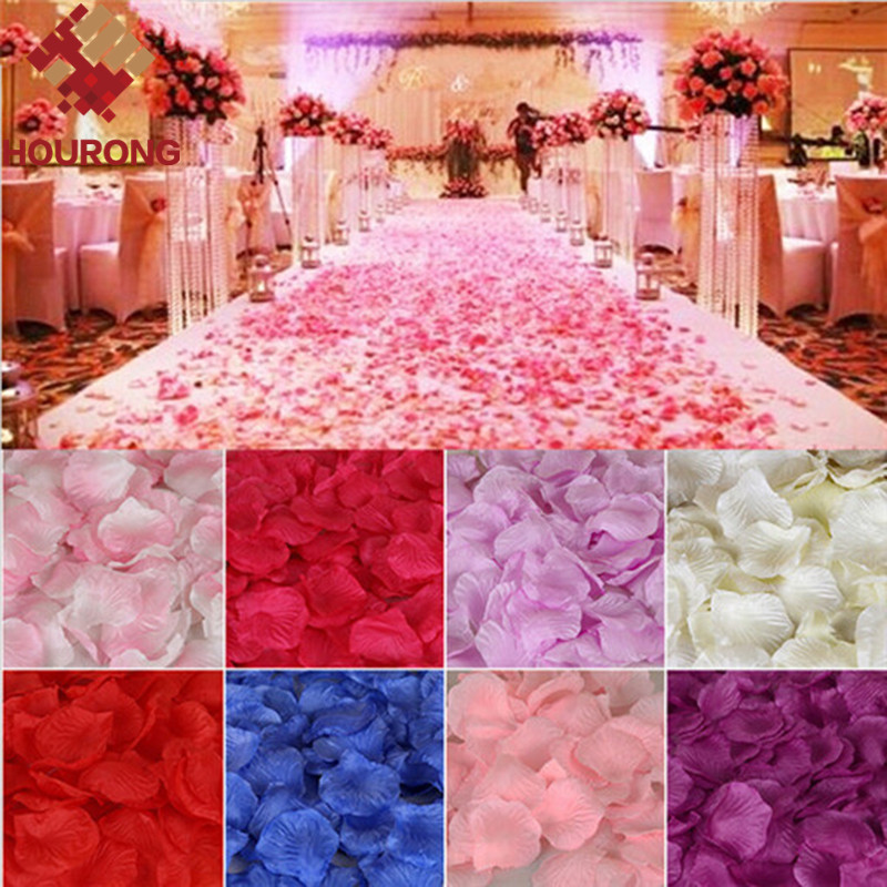 2000pcs/lot Artificial Wedding Rose Petals Flower Petals Wedding Supplies Favor Party Decoration Carpet Wedding Accessories(China (Mainland))