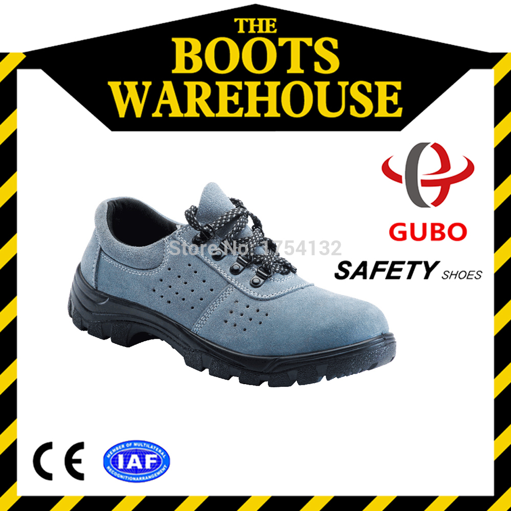 New Top Sale Men Protect Cozy Rain Sweat Russian Blue Air Breathable Safety Shoes Engineering Shoe Suede Leather Safety Shoes(China (Mainland))