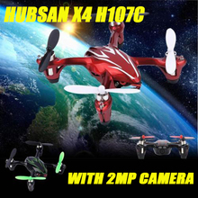 Hubsan X4 H107C 2.4G 4CH RC Quadcopter with 0.3MP Camera Gyro Drone Black & Red USB charging cable allows to charge by computer