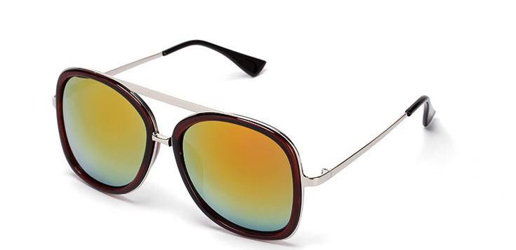 Women face large sunglasses metal box retro glasses(China (Mainland))