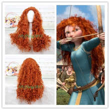 2013 MERIDA Costume Wig BRAVE Movie Disguise cosplay CC43 +a wig cap(China (Mainland))