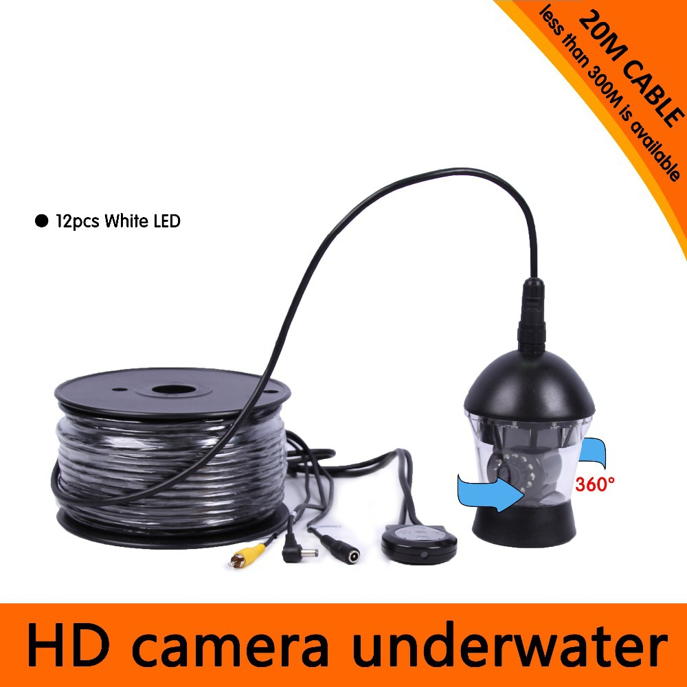 Underwater video camera fishing system 12 led lights 700 for Fishing line camera