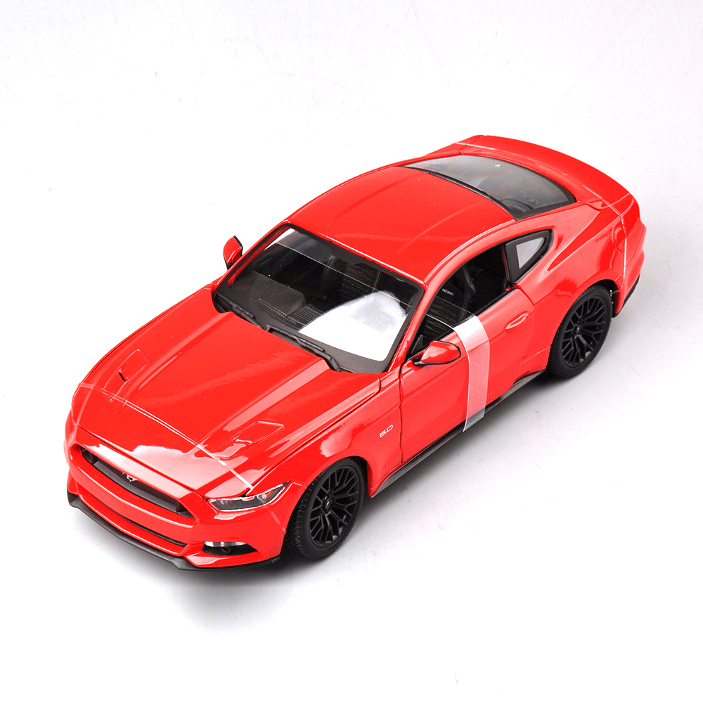 Collectible Alloy Diecast White Red Yellow Blue Black 4 color Car Model 1/18 Scale Ford Mustang 2015 Cars Model Kids Toys Gifts(China (Mainland))