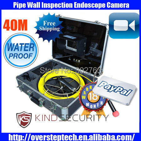 "Freeshipping for 40m Sewer pipe testing equipment camera system,industrial video pipe inspection camera with 7""LCD(China (Mainland))"