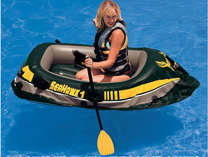 INTEX Seahawk 1 person single person inflatable boat fishing boat 193x108x38cm 68345(China (Mainland))