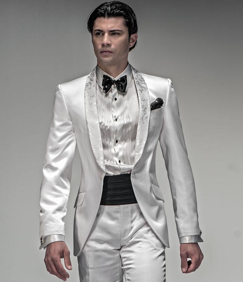 White Jacket Tuxedo Wedding Suit White Tuxedo Jacket