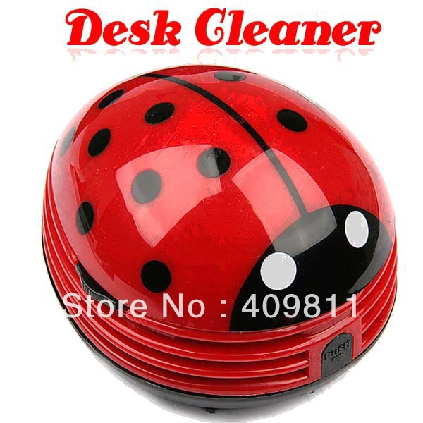 Mini Ladybug Desktop Coffee Table Vacuum Cleaner Dust Collector for Home Office(China (Mainland))