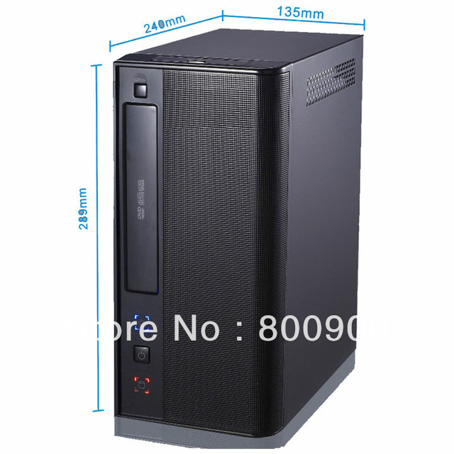INI ITX small chassis exquisite tower computer suitable for dual-core motherboard H77 HD HTPC mini itx chassis