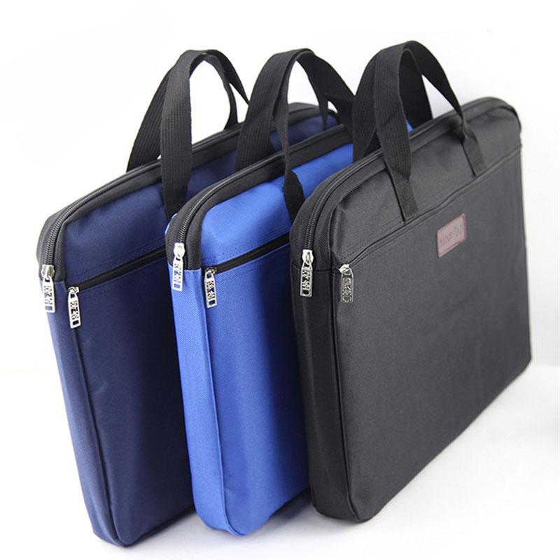 Custom A4 Retro Canvas Business Briefcase Portable File Folder Zip Document Bag Paper File Folder Papelaria carpetas Print logo(China (Mainland))