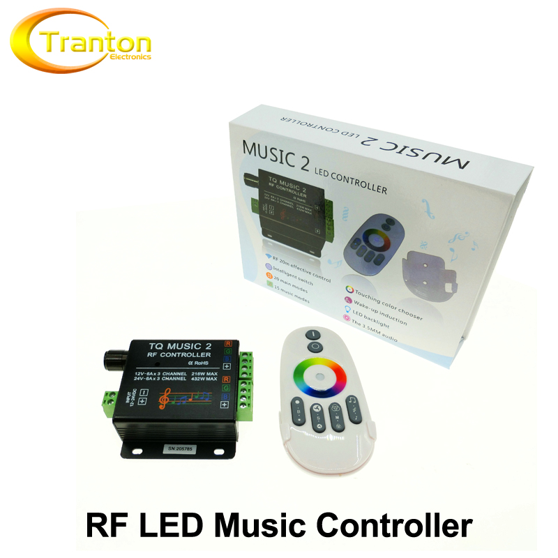 Music LED RGB Controller DC12-24V Intelligent Sonic Sensitivity LED Backlight Control with RF Touch Remote Controller.(China (Mainland))