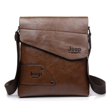 2016 New Men leather famous brand JEEP Messenger Bags Fashion Casual Business small Shoulder bags for man,Men's Travel Bags IPAD(China (Mainland))