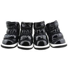 Yeni Köpek Ayakkabı Kat Tasarım Uzay Deri Pet sıcak ayakkabı Kış Moda Pet köpek çizmeleri Soğuk Rahat Cilt dostu(China)