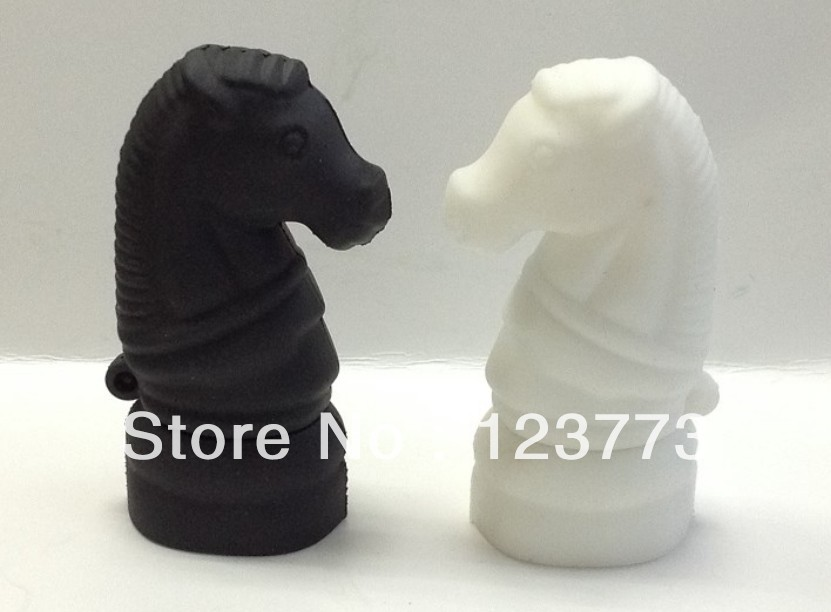 Free shipping cartoon horse head model usb 2.0 memory flash stick thumb pen drive(China (Mainland))