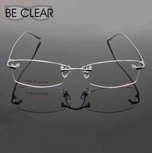 Titanium Eyeglasses Rimless Optical Frame Prescription Spectacle Frameless Glasses For Men Super Light Eyeglasses Eyewear 810592