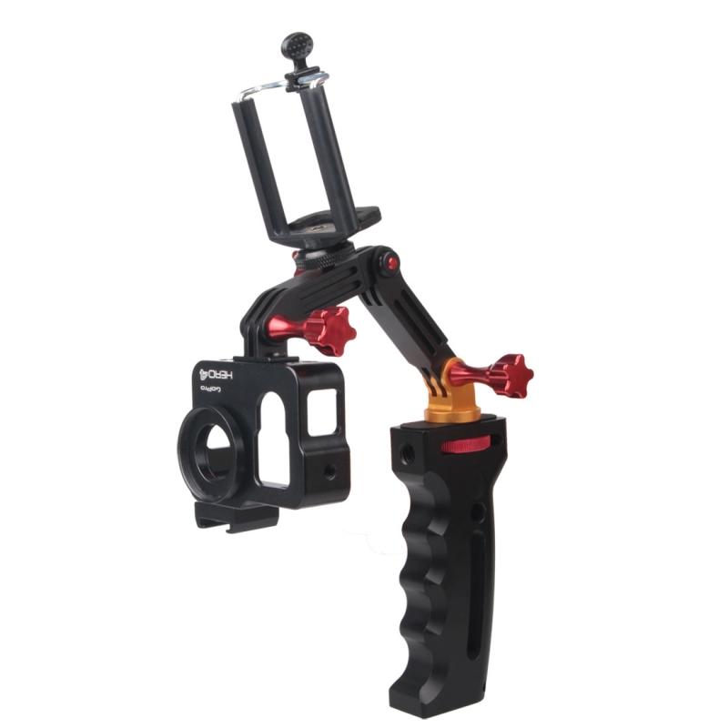Portable 3-Way Handheld Mobile Phone Monopod /Foldable Selfie Stick Tripod Stabilizer Camera Mount for GoPro, SJCAM, Xiaomi Yi <br><br>Aliexpress