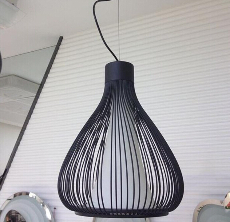 industrial cage pendant lamps design american country. Black Bedroom Furniture Sets. Home Design Ideas