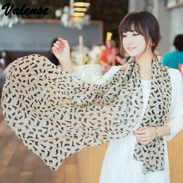 2015 new autumn winter long chiffon kitty silk scarf seaside sunscreen beach towel air conditioning warm shawl VX0367(China (Mainland))