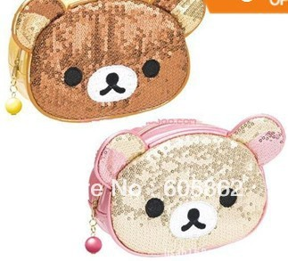 New Rilakkuma blink smart bag / cosmetic bag / mobile phone pouch / mobile phone bag  A0328
