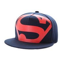 2016 Korean Version Superman Fluorescent Printing Summer Influx Unisex Hip-hop Cap Flat Baseball Cap(China (Mainland))