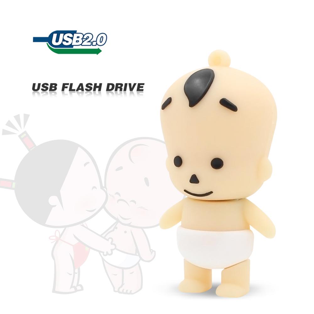 wholesale 2015 new Freeshipping silicone smile baby cartoon theme of creative U Disk 8GB 16GB 32GB 64GB usb flash drive pendrive(China (Mainland))