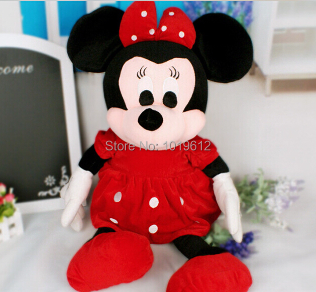 50CM High Quality cute Minnie doll Minnie Mouse Stuffed Animals Plush Toys For Children's Gift 1pcs(China (Mainland))
