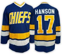 Ice Hockey Jersey Movie Sport Jersey Steve Hanson 17 Charlestown Chiefs Hockey Jersey Winter Ice Wear(China (Mainland))