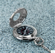 Silver Round Vintage Pocket Watch Necklace  For  Gift Pocket & Fob Watches