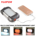 Brand YUETOR portable rechargeable camping lanterns USB line hook gift box set 21 white 6 red