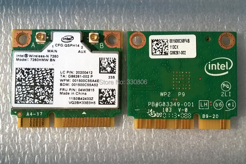 Intel 7260HMW BN 2x2BN Wi-Fi + Bluetooth 4.0 Mini PCI Express combo Adapter For Lenovo Thinkpad FRU 04w3815(China (Mainland))