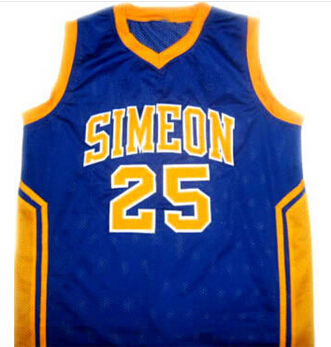 BEN  #25 SIMEON HIGH School Basketball Jersey Yellow Custom any Size, Name and number Stitched New Material(China (