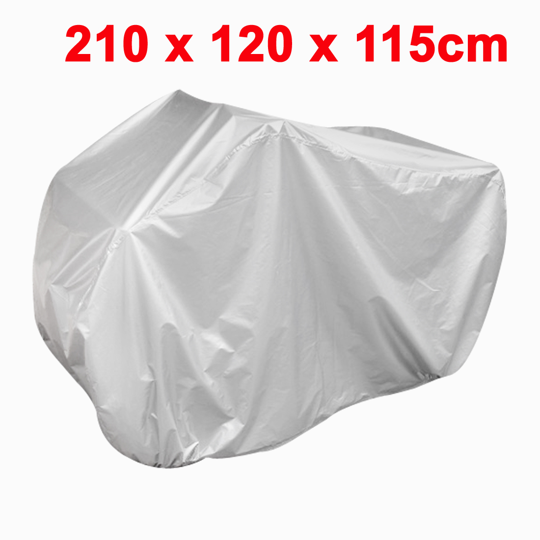Silver Tone Rain Water Resistant Protective Quad Bike ATV Cover 210x120x115cm Discount 50(China (Mainland))