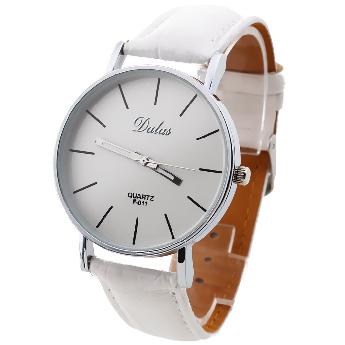 Fashion Classic Women Ladies Wristwatch Quartz Wrist Watch Leather Band Analog Bracelet Casual White Round Dial - Mandy mall store