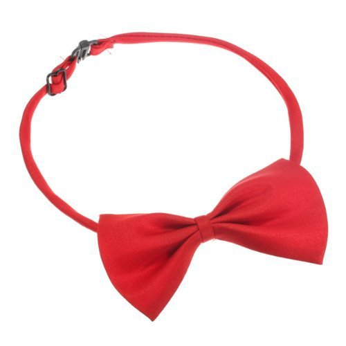 Cute Pet Suppliers Red Cat Adjustable Dog Pet Collar Bowtie Pet Cat Dog Necktie Bow Tie Kitty Puppy Accessory Cute