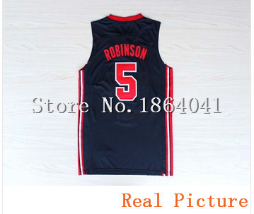 #5 David Robinson Jersey,Dream Team Jersey,USA 1992 Olympic Games Basketball Jersey,Best quality,Size S--XXL,Accept Mix Order(China (Mainland))