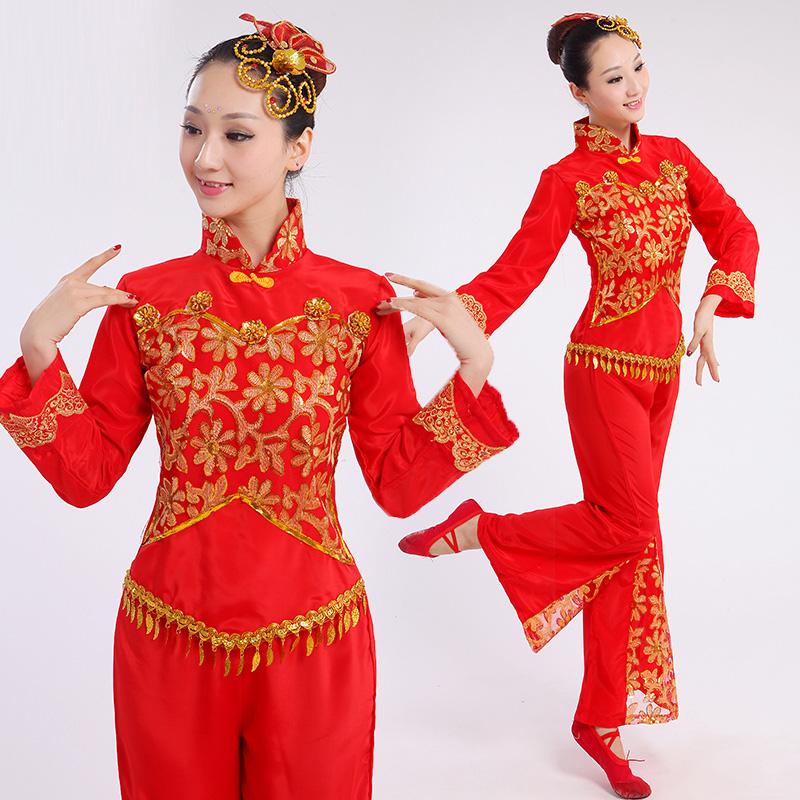 Online Buy Wholesale chinese fan dance costume from China chinese fan dance costume Wholesalers ...