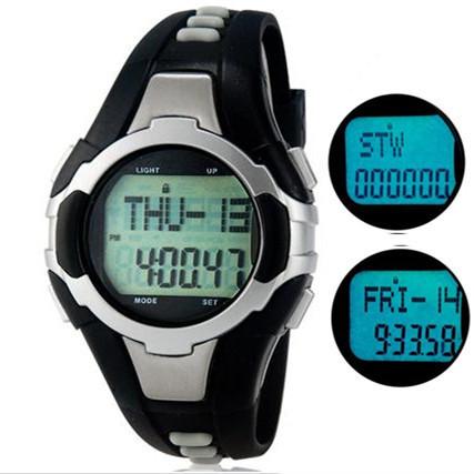 Новые, Здоровый без бретелек монитор сердечного ритма с шагомер многофункциональный спортивные часы, Модель с